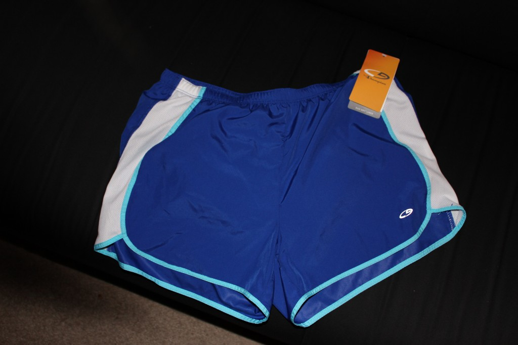 champion running shorts, blue