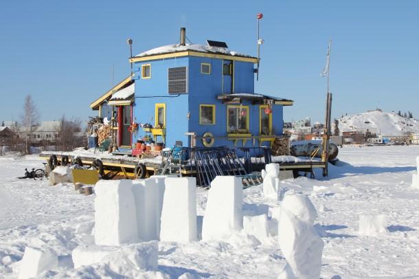 snow kings house boat, yellowknife