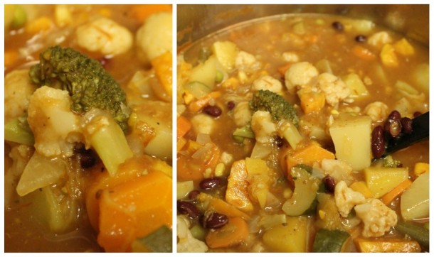 homemade veggie soup, root soup