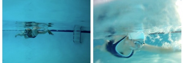 underwater camera, swimming indoors, triathlon training