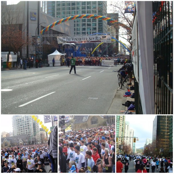 vancouver sun run 2011, start line