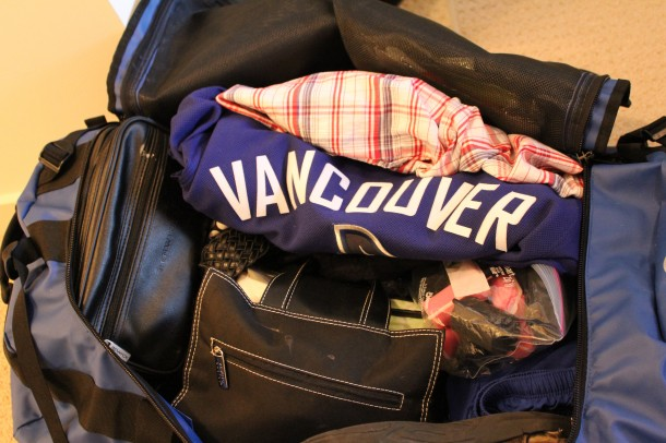 packing canucks jersey on trip