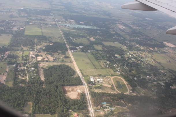 arial shot of Houston