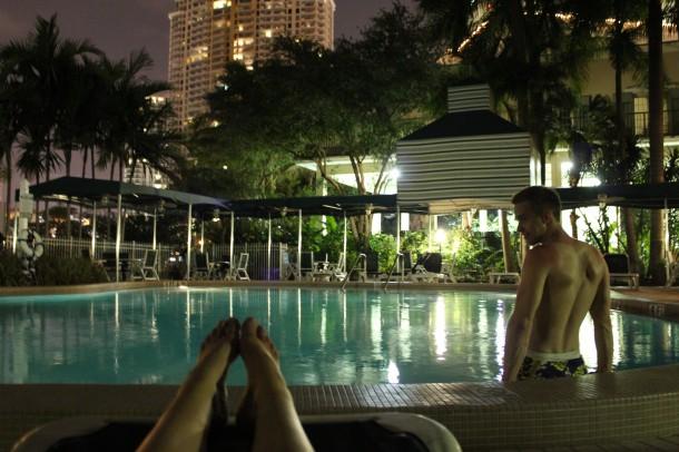 riverside hotel pool