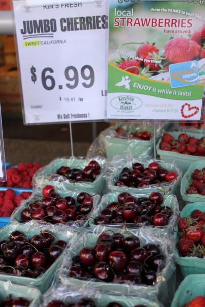 fresh bc cherries