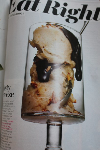 shape magazine frozen banana's recipe