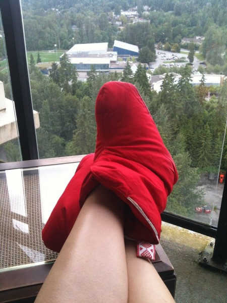 ikea red slippers