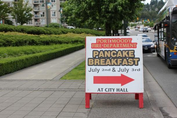 Port Moody Firemans Pancake breakfast
