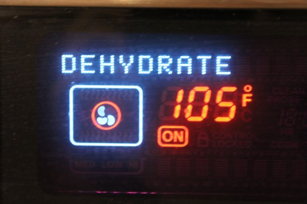 dehydrate feature on oven