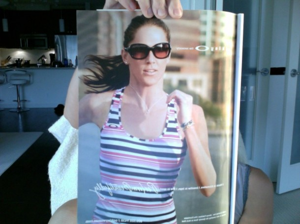 jenny fletcher womens health magazine, oakley ad