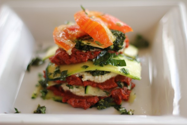 Raw food lasagna