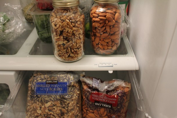 keeping nuts in the fridge