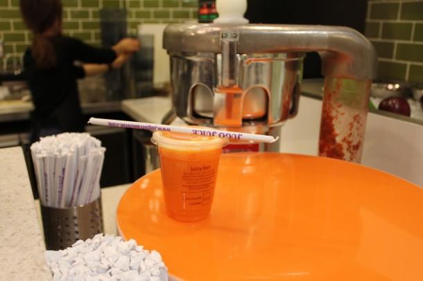 carrot and OJ from Jugo Juice