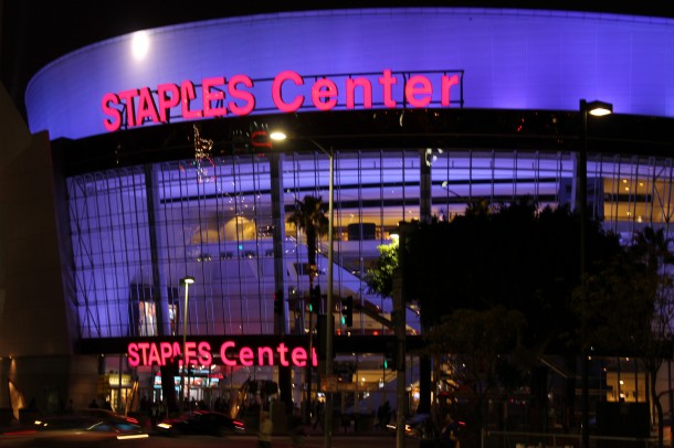 Staples center, LA vs. Canucks
