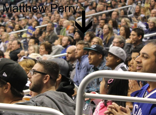 Matthew Perry at kings game