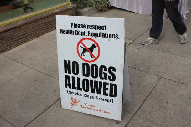 larchmont farmers market, no dogs allowed