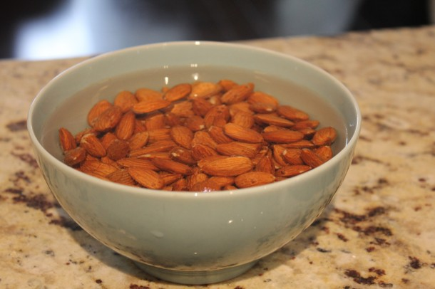 nuts to make almond milk